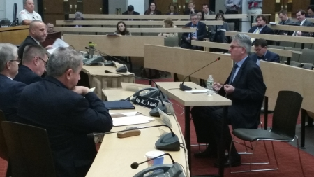 BHI Director of Research Paul Bachman testifies before Joint Revenue Committee on December 6, 2017